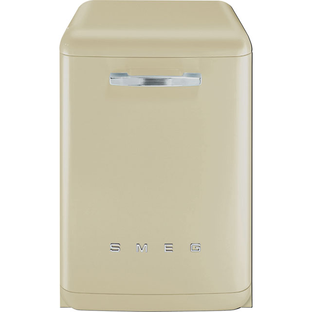 Smeg 50's Retro DF6FABCR Standard Dishwasher - Cream - A+++ Rated - DF6FABCR_CR - 1