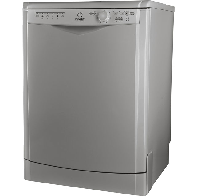 Indesit My Time DFG26B1S Standard Dishwasher - Silver Best Price, Cheapest Prices