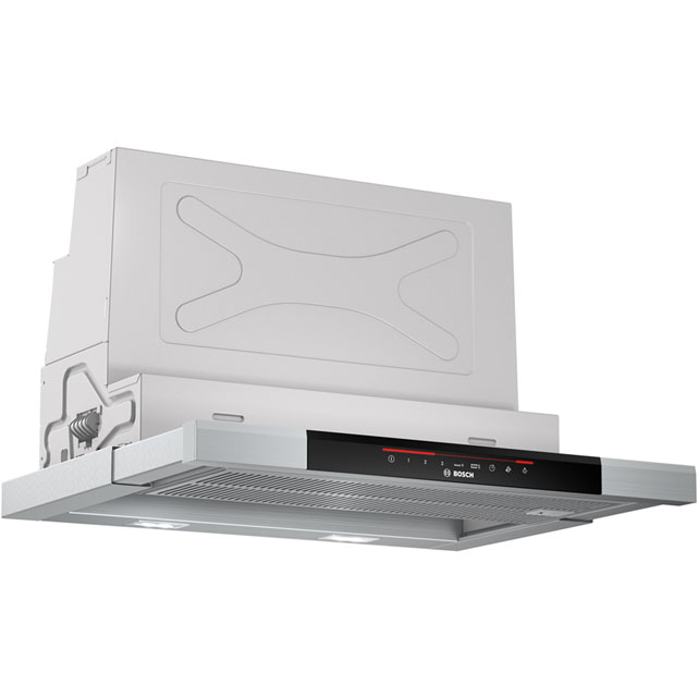 Bosch Serie 8 DFS067J50B Built In Integrated Cooker Hood - Brushed Steel - DFS067J50B_BS - 1