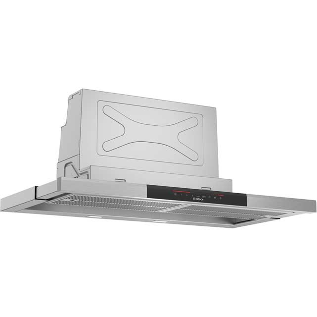 Bosch Serie 8 DFS097J50B Built In Integrated Cooker Hood - Brushed Steel - DFS097J50B_BS - 1