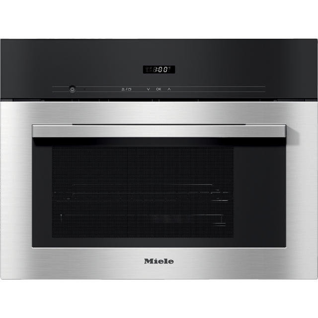 Miele ContourLine DG2740 Built In Compact Steam Oven - Clean Steel - DG2740_CS - 1