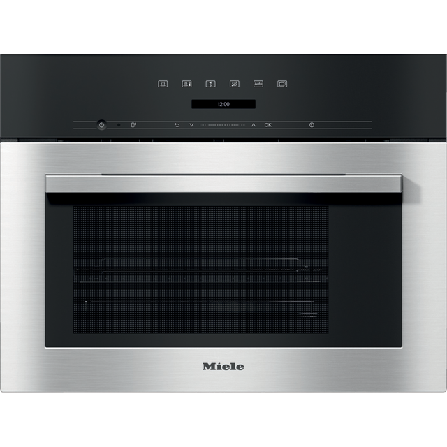 Miele ContourLine DG7140 Built In Compact Steam Oven - Clean Steel - DG7140_CS - 1