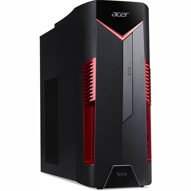 Acer Nitro 50-600 Gaming Tower - Black / Red