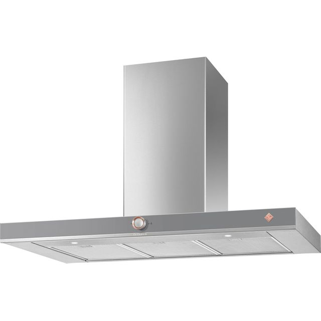 De Dietrich DHB7952G 90 cm Chimney Cooker Hood - Grey - A+ Rated - DHB7952G_GR - 1
