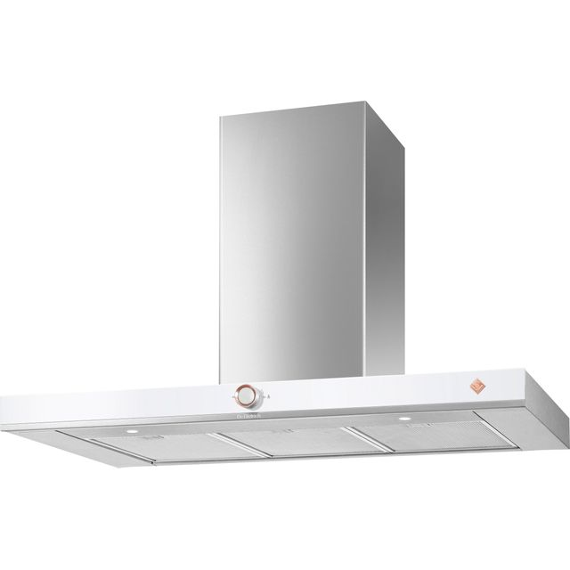 De Dietrich DHB7952W 90 cm Chimney Cooker Hood - White - A+ Rated - DHB7952W_WH - 1
