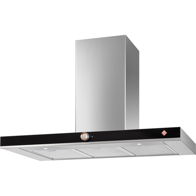 De Dietrich DHB7952X 90 cm Chimney Cooker Hood - Platinum - A+ Rated