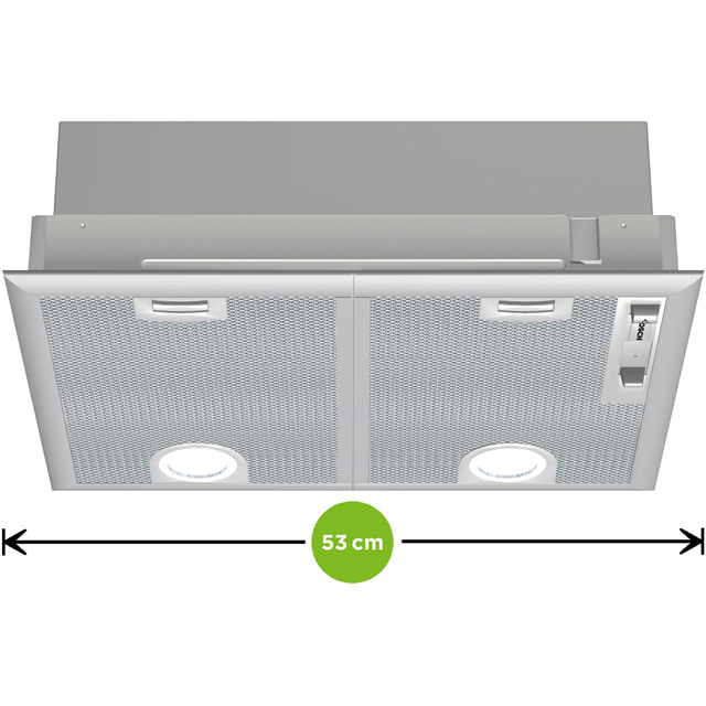 Bosch Serie 4 DHL555BLGB Built In Canopy Cooker Hood - Silver - DHL555BLGB_SI - 2