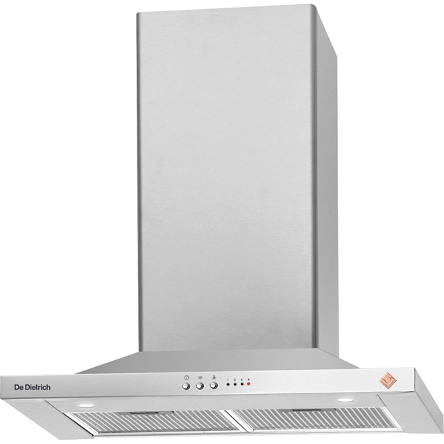 De Dietrich DHP7612X 60 cm Chimney Cooker Hood - Stainless Steel - B Rated
