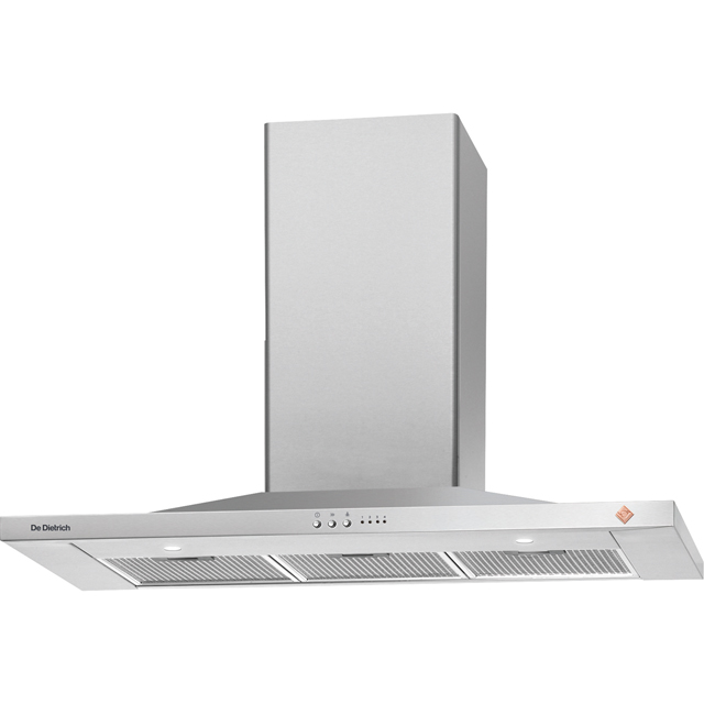 De Dietrich DHP7912X 90 cm Chimney Cooker Hood - Stainless Steel - B Rated