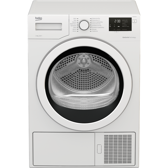 Beko DHR83431W 8Kg Heat Pump Tumble Dryer - White - A++ Rated