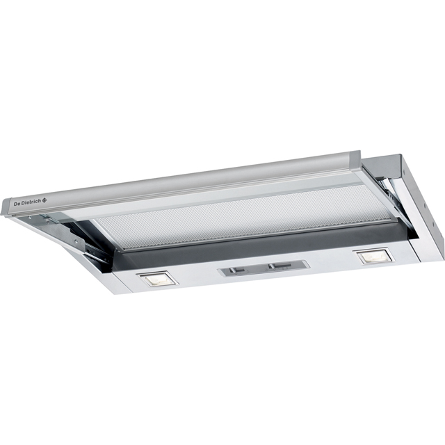 De Dietrich DHT1116X 60 cm Telescopic Cooker Hood - Stainless Steel - E Rated - DHT1116X_SS - 1