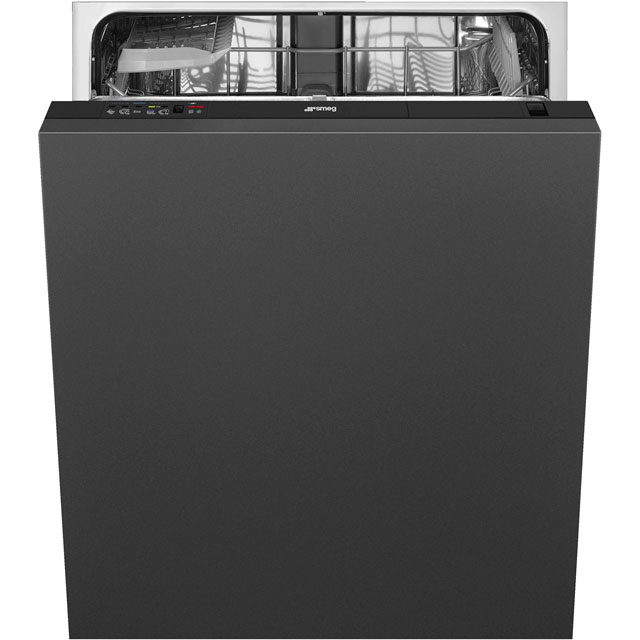 Smeg DI12E1 Fully Integrated Standard Dishwasher - Black Control Panel with Fixed Door Fixing Kit - A+ Rated - DI12E1_BK - 1