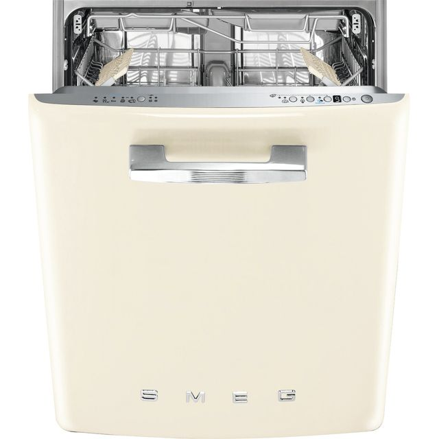 Smeg DI13FAB3CR Fully Integrated Standard Dishwasher - Cream Control Panel with Fixed Door Fixing Kit - D Rated