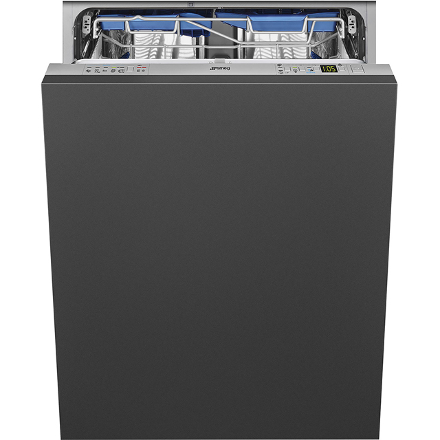 Smeg DI13TF3 Fully Integrated Standard Dishwasher - Silver Control Panel with Sliding Door Fixing Kit - D Rated