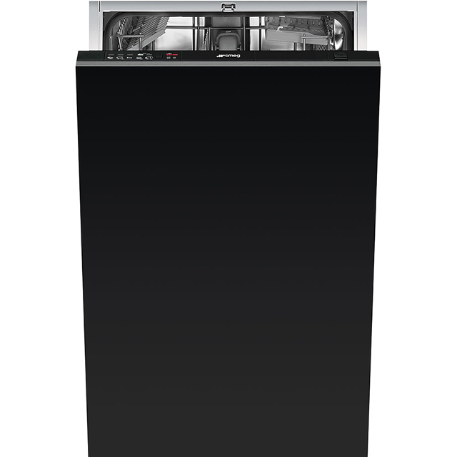 Smeg Di410AE Fully Integrated Slimline Dishwasher - Black Control Panel with Fixed Door Fixing Kit - A+ Rated - Di410AE_BK - 1