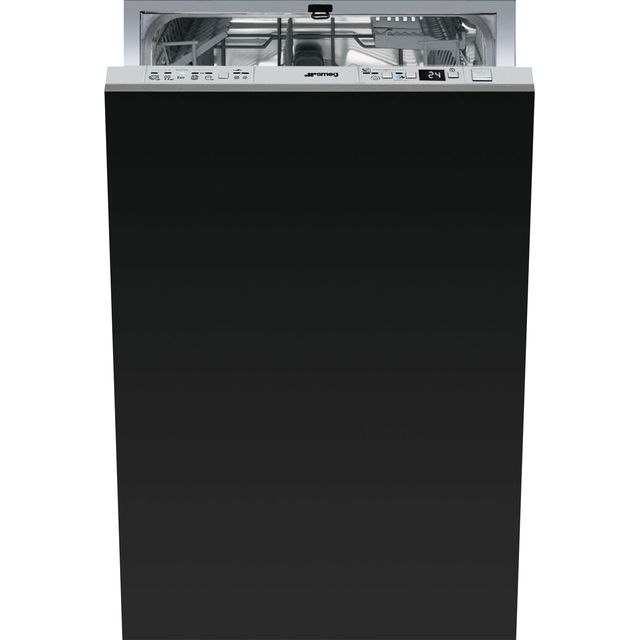 Smeg Fully Integrated Slimline Dishwasher - Stainless Steel Control Panel with Fixed Door Fixing Kit - A+ Rated