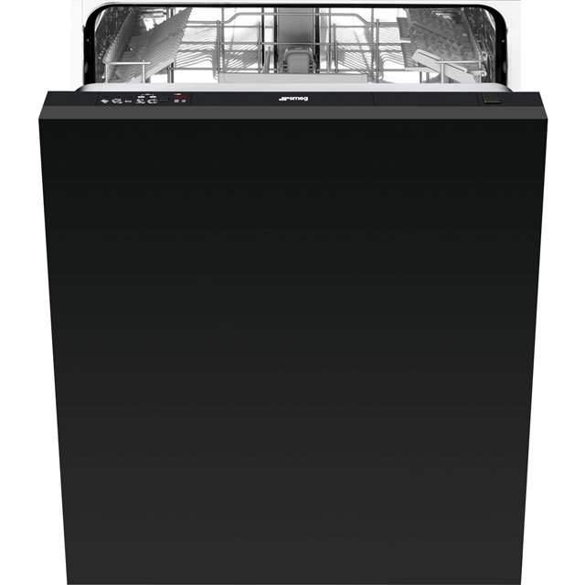 Smeg Di612E Fully Integrated Standard Dishwasher - Black Control Panel with Fixed Door Fixing Kit - A+ Rated - Di612E_BK - 1