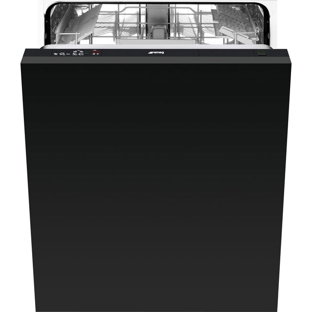 Smeg Fully Integrated Standard Dishwasher - Black with Fixed Door Fixing Kit - A+ Rated
