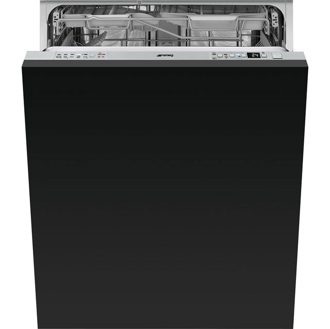 Smeg DI613ATP Fully Integrated Standard Dishwasher - Silver Control Panel with Sliding Door Fixing Kit - A+++ Rated - DI613ATP_SIL - 1