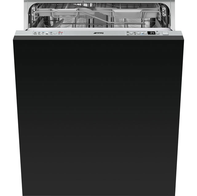 Smeg DI613P Fully Integrated Standard Dishwasher - Stainless Steel Control Panel with Fixed Door Fixing Kit - A+++ Rated - DI613P_SS - 1