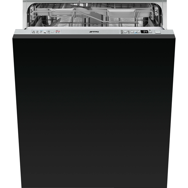 Smeg DI613PMAX Fully Integrated Standard Dishwasher - Stainless Steel Control Panel with Fixed Door Fixing Kit - A+++ Rated - DI613PMAX_SS - 1