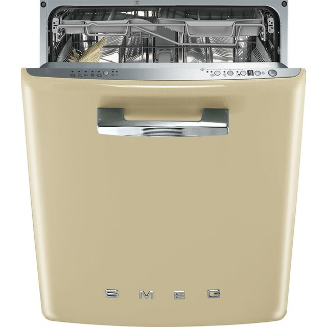 Smeg 50's Retro Fully Integrated Standard Dishwasher - Cream with Fixed Door Fixing Kit - A+++ Rated