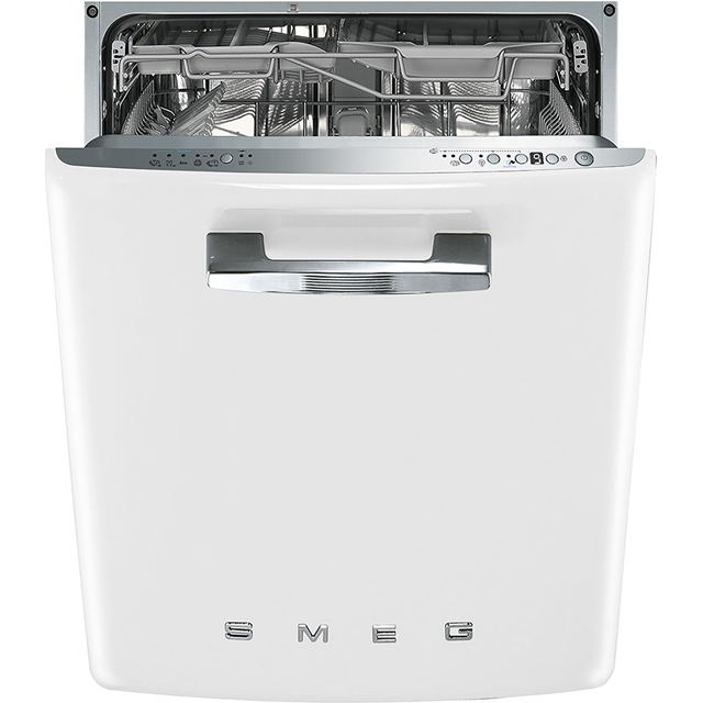 Smeg 50's Retro Fully Integrated Standard Dishwasher - White with Fixed Door Fixing Kit - A+++ Rated