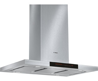 Bosch Serie 8 DIB091K50B 90 cm Chimney Cooker Hood - Black Glass - DIB091K50B_BKG - 1