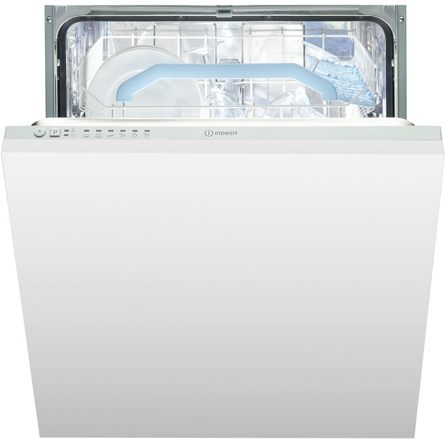 Indesit DIF16B1 Fully Integrated Standard Dishwasher - Silver Control Panel - A+ Rated