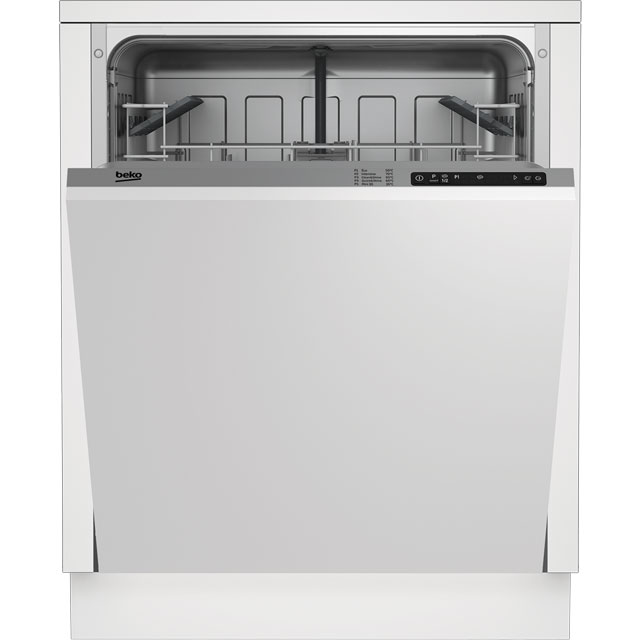 Beko DIN15R10 Fully Integrated Standard Dishwasher - Silver Control Panel - A+ Rated