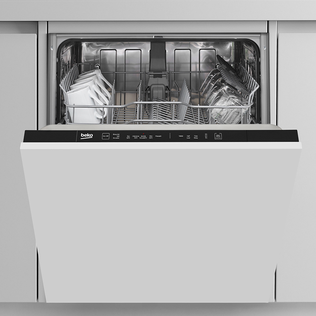 Beko DIN15R11 Fully Integrated Standard Dishwasher - Black - DIN15R11_SI - 1