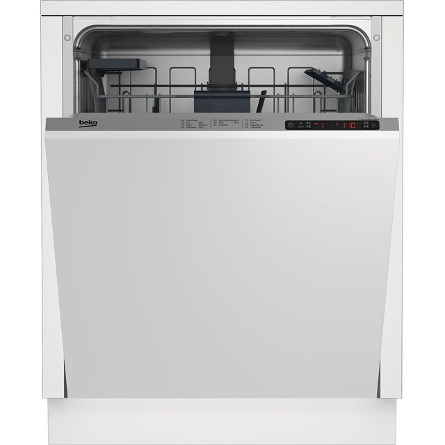 Beko DIN26410 Fully Integrated Standard Dishwasher - Silver Control Panel with Fixed Door Fixing Kit - A+ Rated - DIN26410_SI - 1