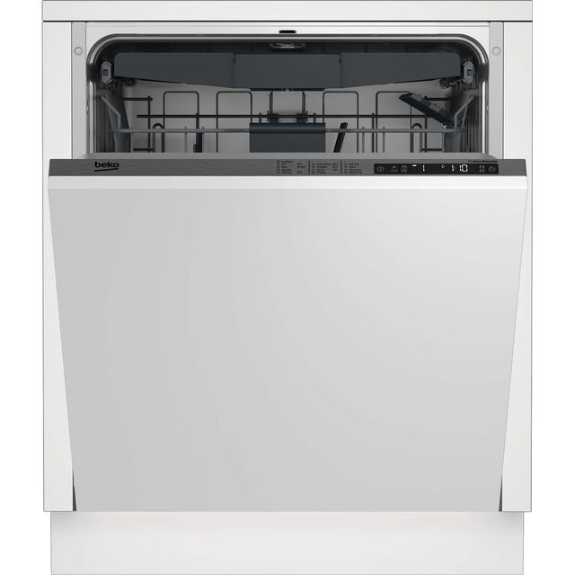 Beko DIN28R22 Fully Integrated Standard Dishwasher - Silver Control Panel - A++ Rated