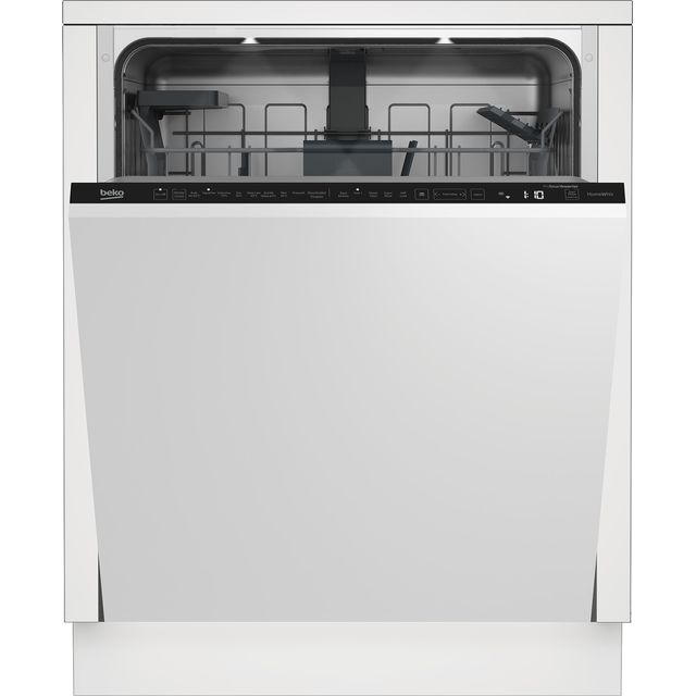 Beko DIN59420D Wifi Connected Fully Integrated Standard Dishwasher - Silver Control Panel with Fixed Door Fixing Kit - A++ Rated - DIN59420D_SI - 1