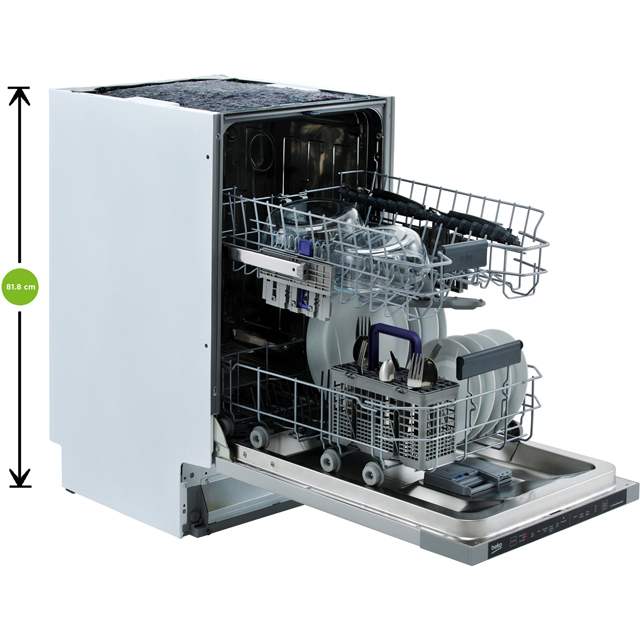 Beko DIS16R10 Fully Integrated Slimline Dishwasher - Silver - DIS16R10_SI - 3