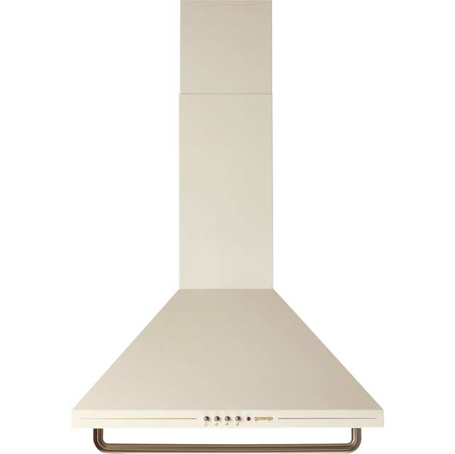 Gorenje Classico Collection DK63CLI 60 cm Chimney Cooker Hood - Ivory