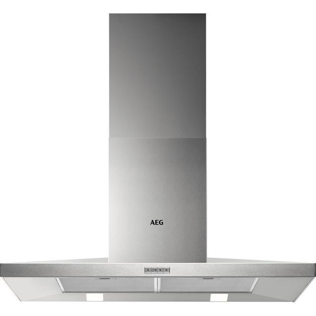 Image of AEG DKB4950M 90 cm Chimney Cooker Hood - Stainless Steel - B Rated
