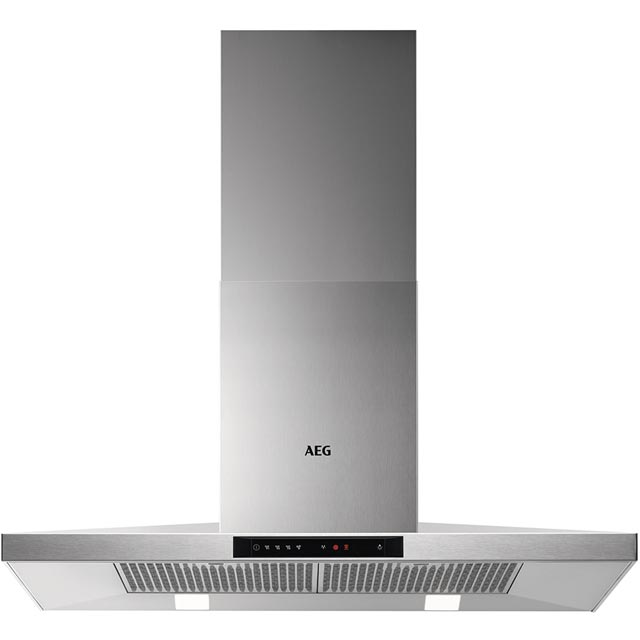 AEG 90 cm Chimney Cooker Hood - Stainless Steel - A Rated