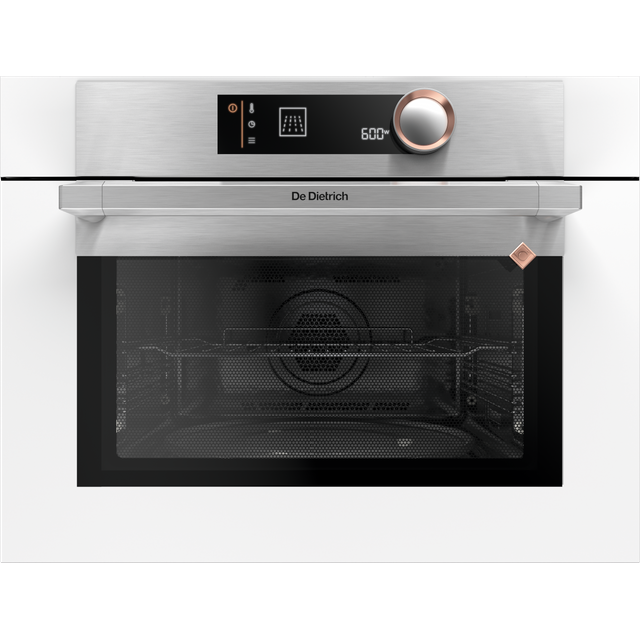 De Dietrich DKC7340W Built In Compact Electric Single Oven with Microwave Function - White - DKC7340W_WH - 1