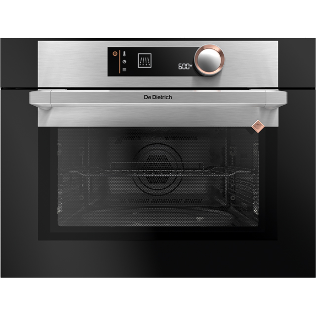 De Dietrich DKC7340X Built In Compact Electric Single Oven with Microwave Function - Platinum