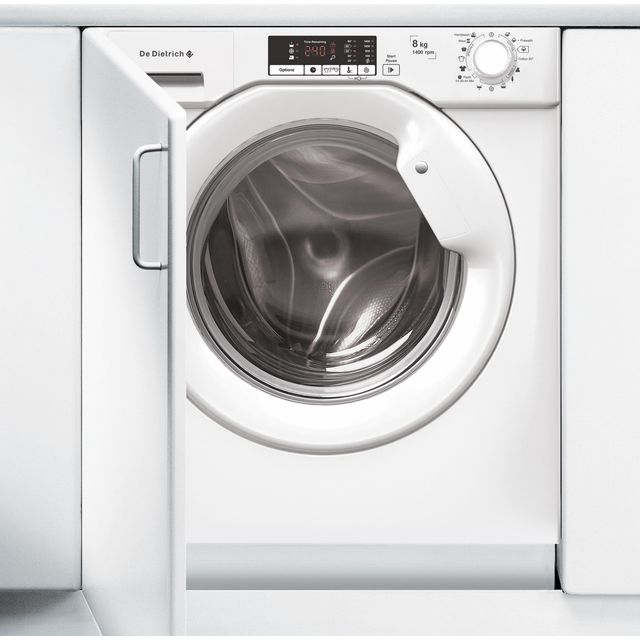 De Dietrich DLZ814I Integrated 8Kg Washing Machine with 1400 rpm - A+++ Rated - DLZ814I_WH - 1