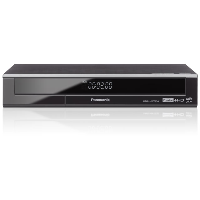 Panasonic DMR-HWT130EB9 Smart Freeview HD Set Top Box with Recorder and 500 GB Hard Drive - Black - DMR-HWT130EB9 - 1
