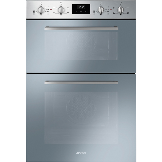 Smeg Cucina DOSF400S Built In Double Oven - Stainless Steel - A/B Rated - DOSF400S_SS - 1