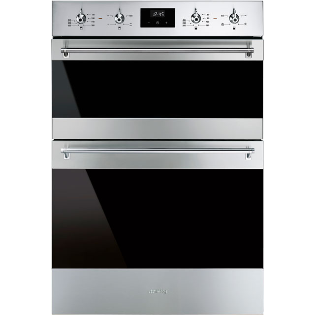 Smeg Classic DOSF6300X Built In Double Oven - Stainless Steel - A/B Rated - DOSF6300X_SS - 1