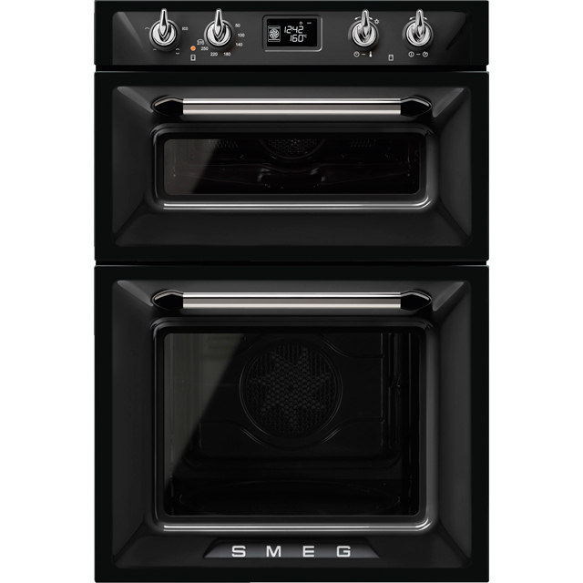 Smeg Victoria DOSF6920N1 Built In Double Oven - Black - A/A Rated - DOSF6920N1_BK - 1