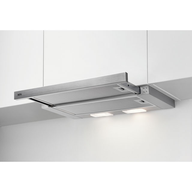 AEG 60 cm Telescopic Cooker Hood - Stainless Steel - C Rated