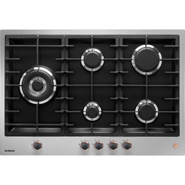 De Dietrich DPE7729XF Built In Gas Hob - Stainless Steel / Black - DPE7729XF_SS - 1