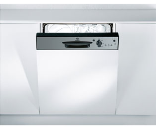 Indesit Eco Time DPG15B1NX Built In Standard Dishwasher - Silver - DPG15B1NX_IX - 1
