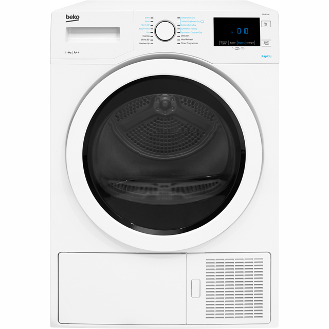 Beko DPH8744W 8Kg Heat Pump Tumble Dryer - White - A++ Rated - DPH8744W_WH - 1
