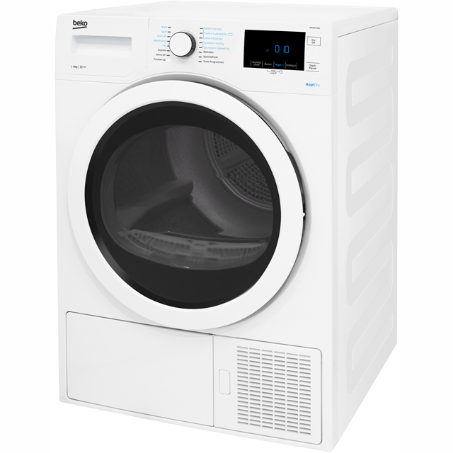 Beko DPH8744W Heat Pump Tumble Dryer - White - DPH8744W_WH - 2